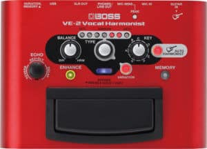 Boss VE-2 Vocal Harmonist Pedal Review, Vocal harmonizer pedal for singers