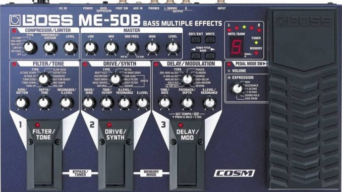 Boss ME-50B Bass Multi Effects unit with bass synth effects