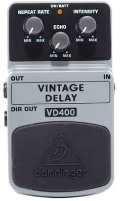 Behringer Vintage Delay VD400 - Delay Pedal for Bass Guitar