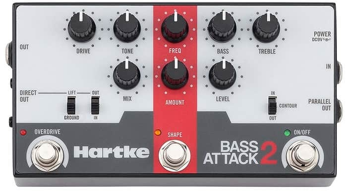 Hartke Bass Attack 2-Bass-Preamp-Direct-Box-with-Overdrive