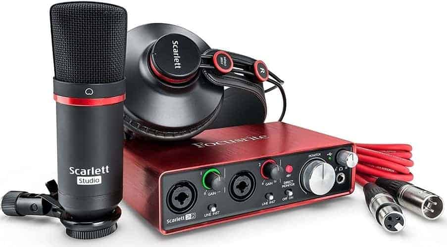 Focusrite Scarlett 2i2 Studio (2nd Gen) USB Audio Interface and Recording Bundle with Pro Tools -