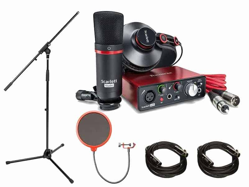 Focusrite Scarlett Solo Studio Pack (2nd Gen) & Recording Bundle with Pro-Tools - Home Recording Studio Package