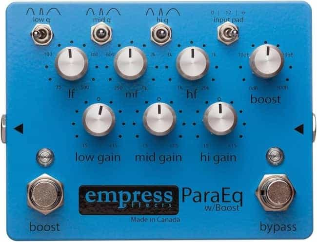 Empress ParaEQ Processing Pedal For Guitar With Boost