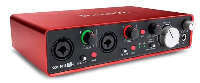 Focusrite Scarlett 2i4 2nd Generation Audio Interface for Recording Electric Guitar