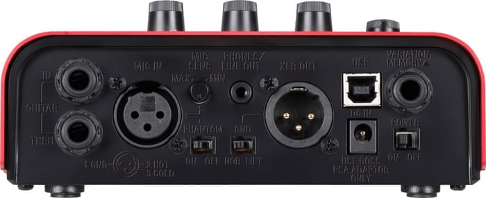 Boss VE-2 Vocal Harmonist Backside of the Interface