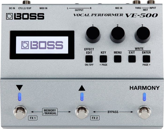 Boss VE-500 Vocal Performer - Front of Interface