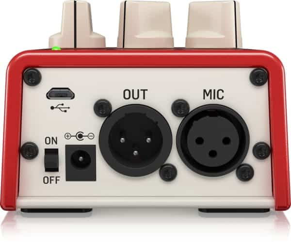 TC Helicon Mic Mechanic 2 - Back of Interface
