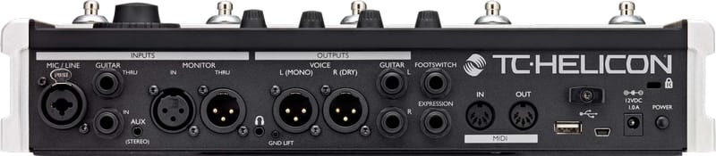 TC Helicon VoiceLive 3 - Back of Interface