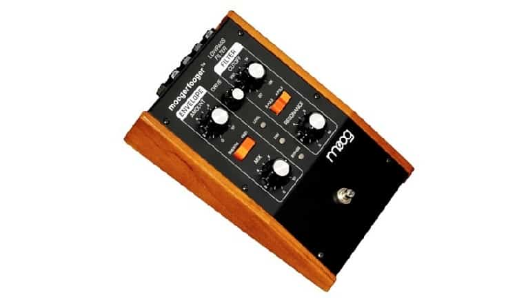Moog MF101 Moogerfooger Low Pass Filter Effects Pedal for Guitar, Bass, and Synth - Black